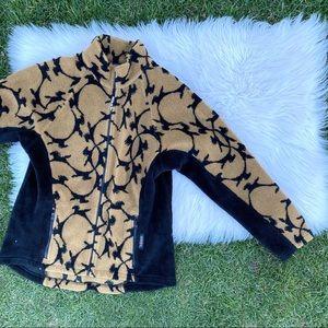 Kerrits Horse Print Fleece Zip Up jacket XL